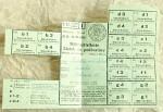 staré lístky na poživatiny