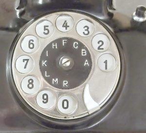 bakelitovy telefon Mikrofona kovova ciselnice