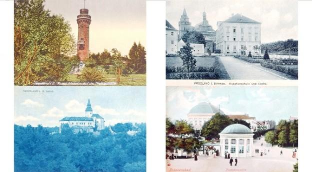prodam stare pohlednice Frydlant, Frantiskovy lazne, Falkenhain