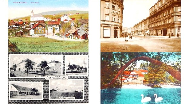 stare pohlednice Chocen, Holice, Chyse, Horni Zahori, Hronov, Horusice
