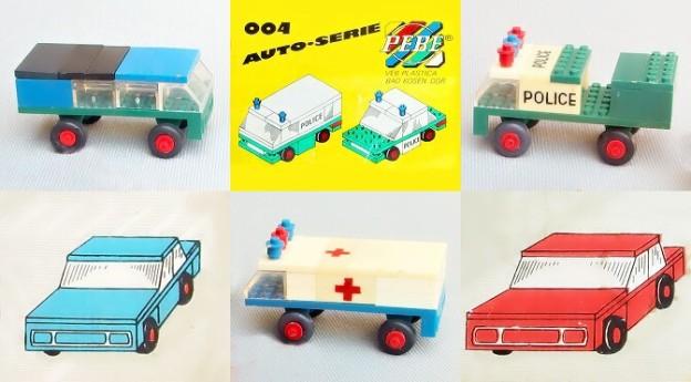 stavebnice PEBE VEB Plastica mini auto na prodej
