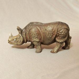 starozitna hracka nosorozec figurka
