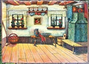 staré kulisy loutkové divadlo