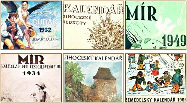 prodám staré jihočeské kalendáře 1946-1958