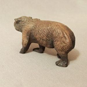 starozitna hracka medved figurka
