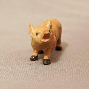 starozitna hracka prasatko figurka