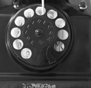 bakelitovy telefon Mikrofona MK